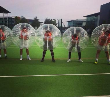 Bubble football q card offer