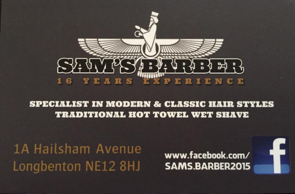 Sam the Barbers Logo