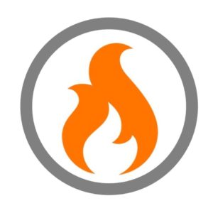 Fire in stone logo