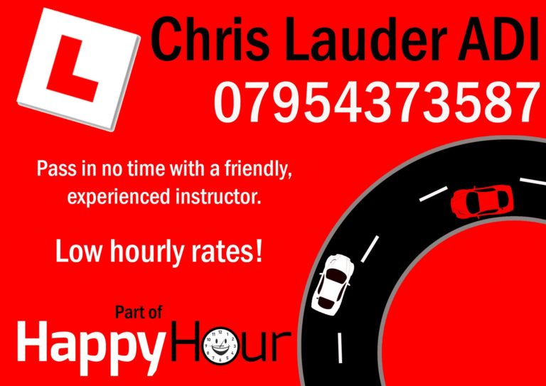 Chris lauder driving school offer