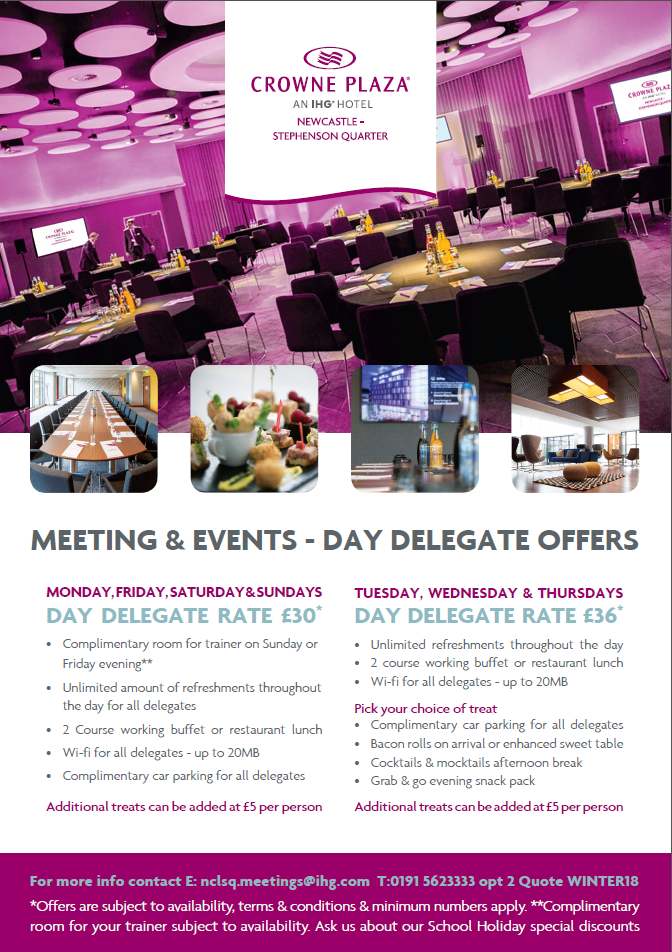 delgate offers crowne plaza newcastle