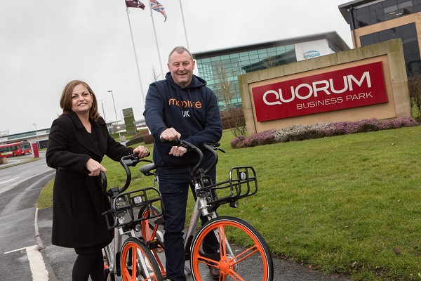 Mo Bike Arrive at Quorum