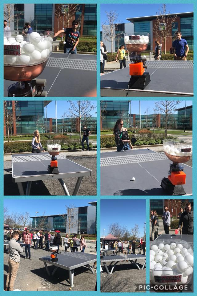 Collage of pics from our Table Tennis Event
