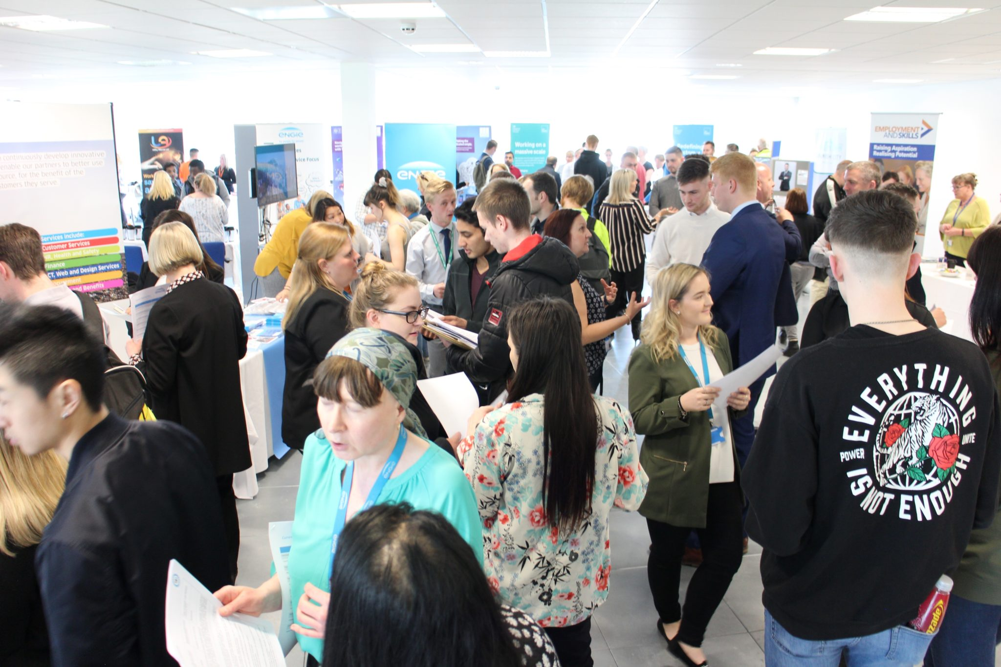 Crowds at Quorum Jobs Fair