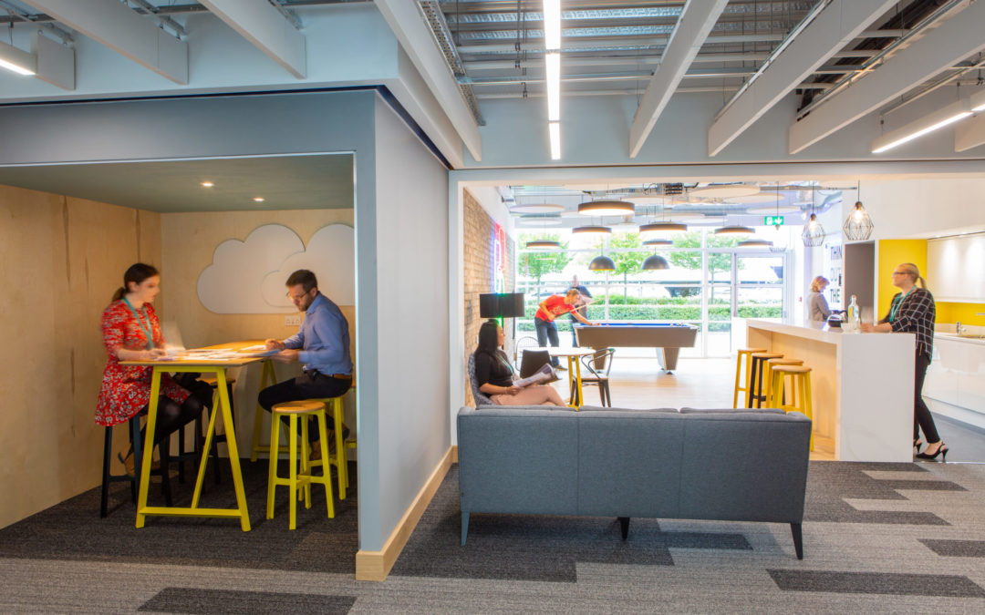 Shared area in Neon office space