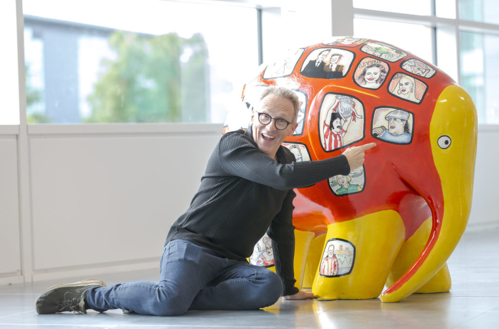 Presenter, comic and artist Alfie Joey attends the Elmer's Read North Parade preview event at Quorum Business Park in Newcastle Picture: DAVID WOOD