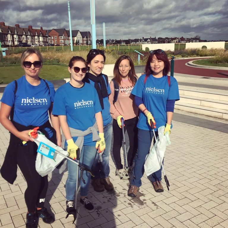 Beach clean Whitley Bay