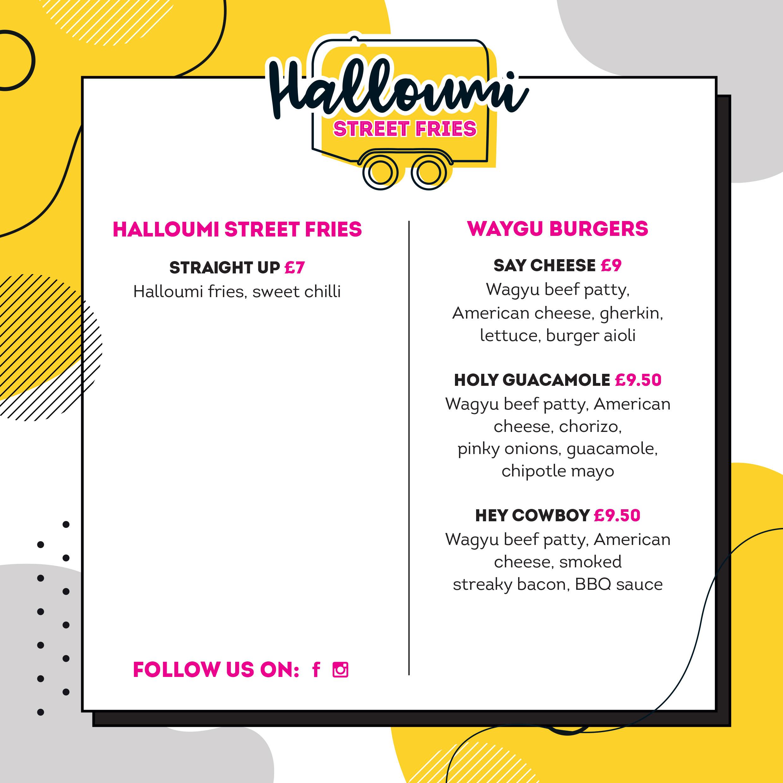 Halloumi Street Fries Menu