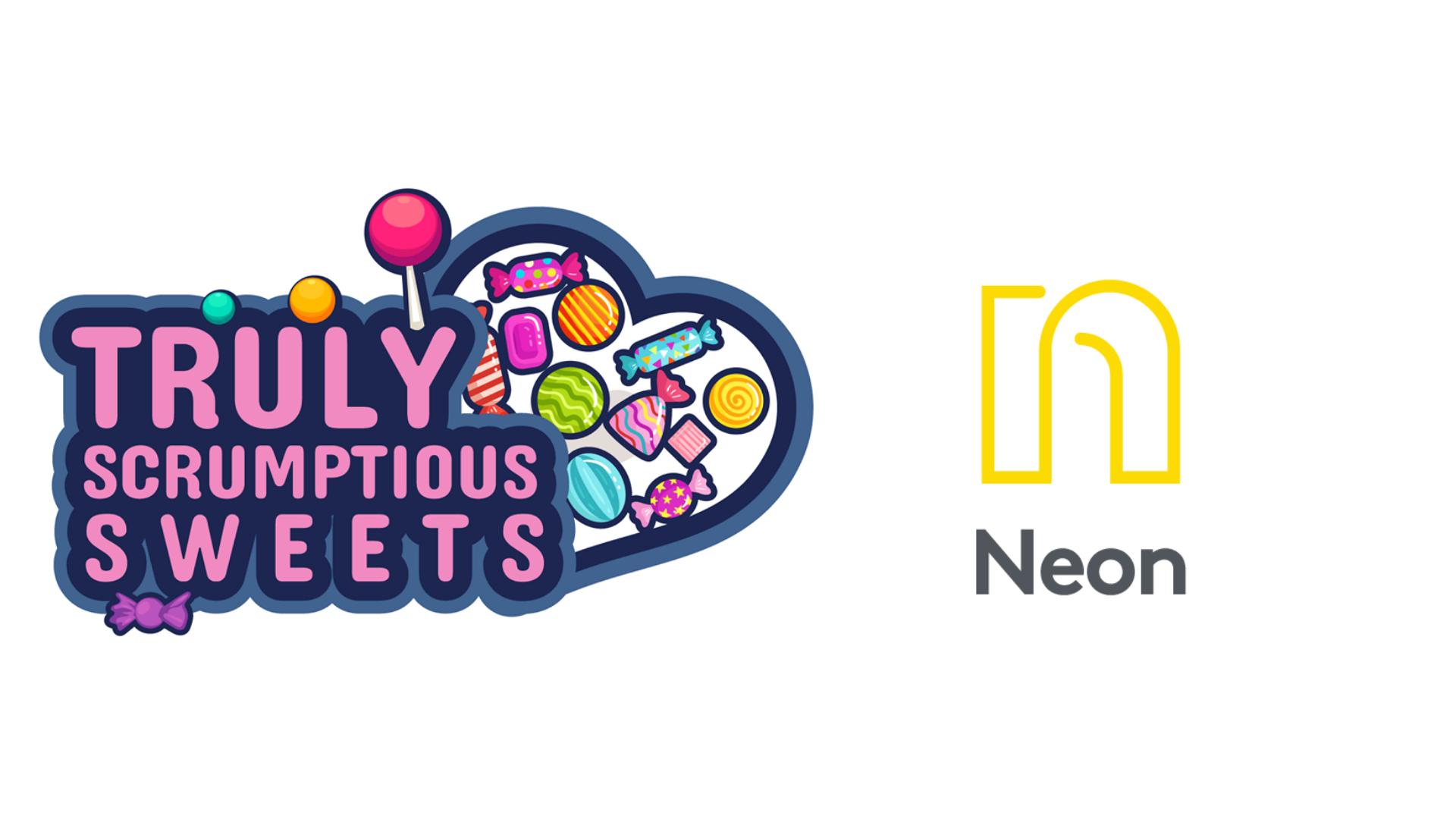 Truly Scrumptious plus Neon Logo