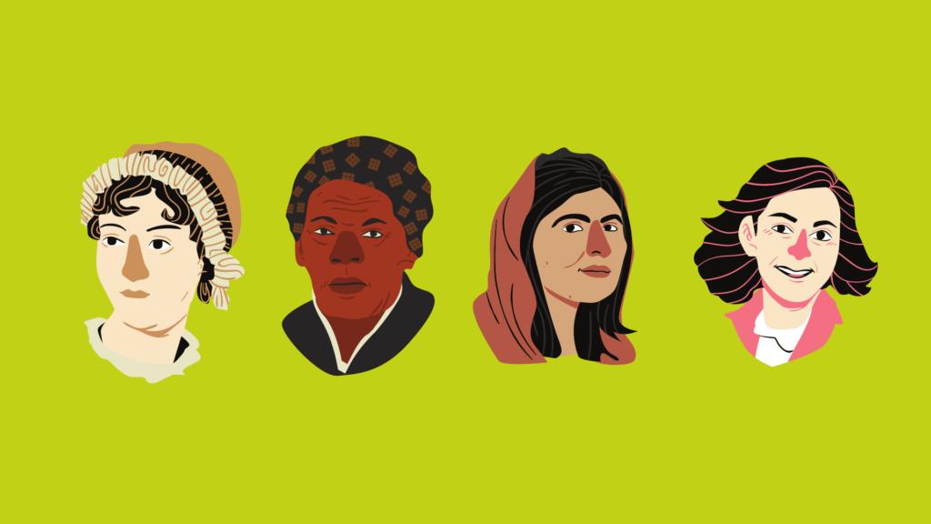 Inspirational Women In history headshots