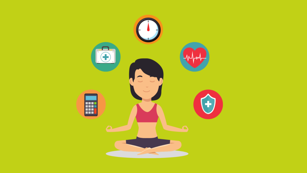 Four Pillars of Health image of lady doing yoga