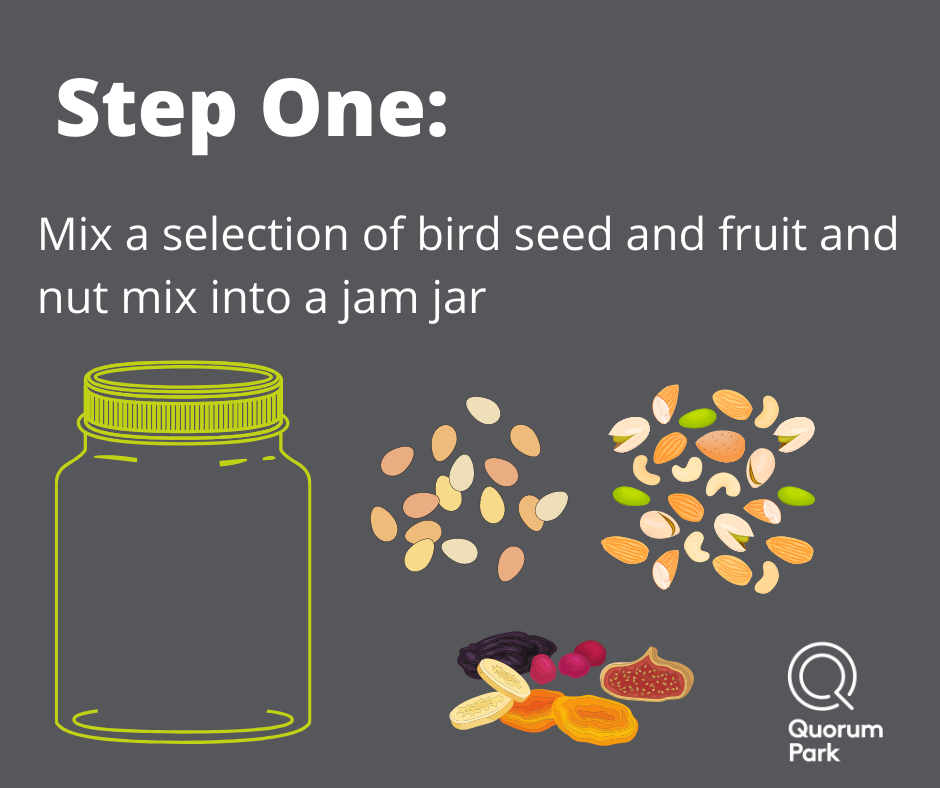 Step One - Mix Seeds in an empty jam jar