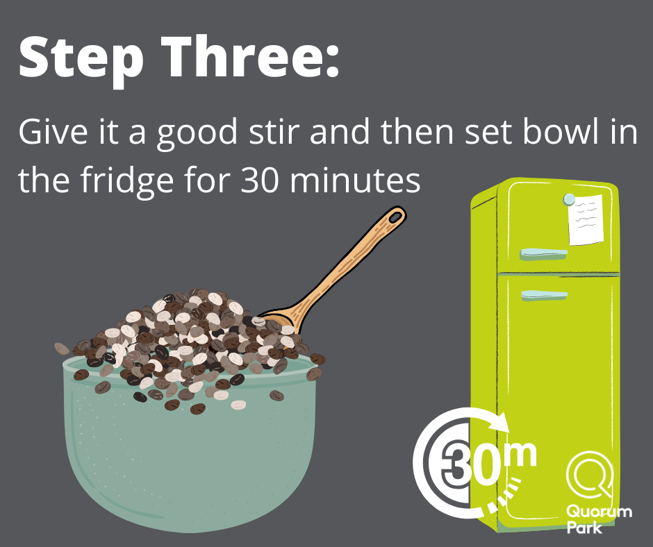 Set in the fridge for 30 minutes