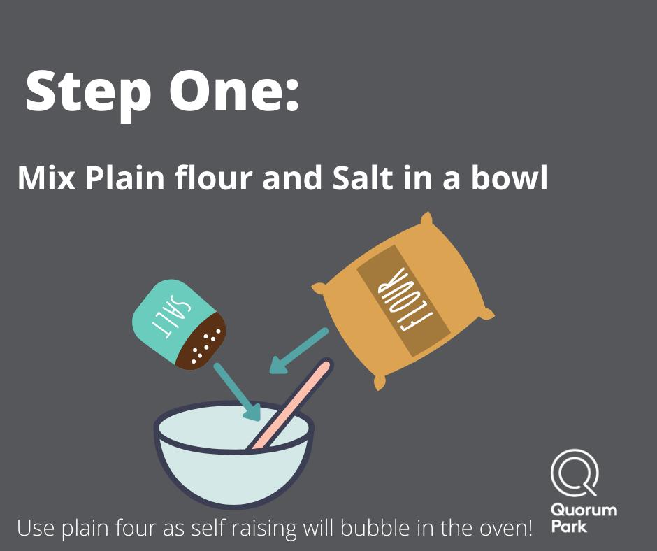 Mix flour and salt