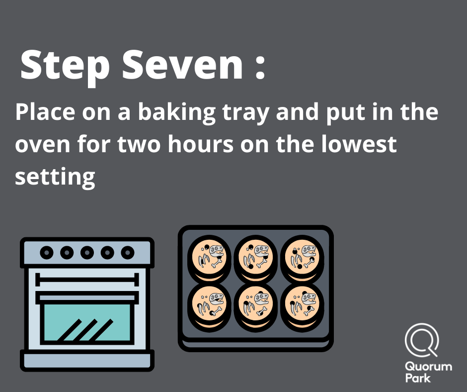 Place in oven for two hours