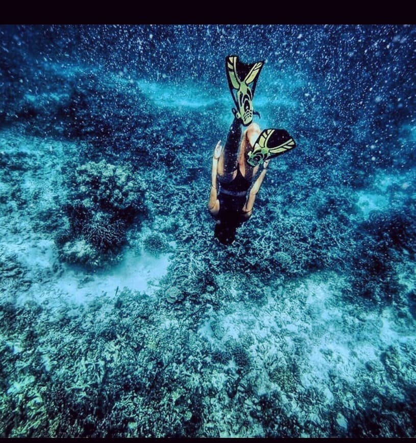 Oshin works in marine conservation